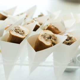Cheesesteak cups - Butlered Hors d'oeuvres