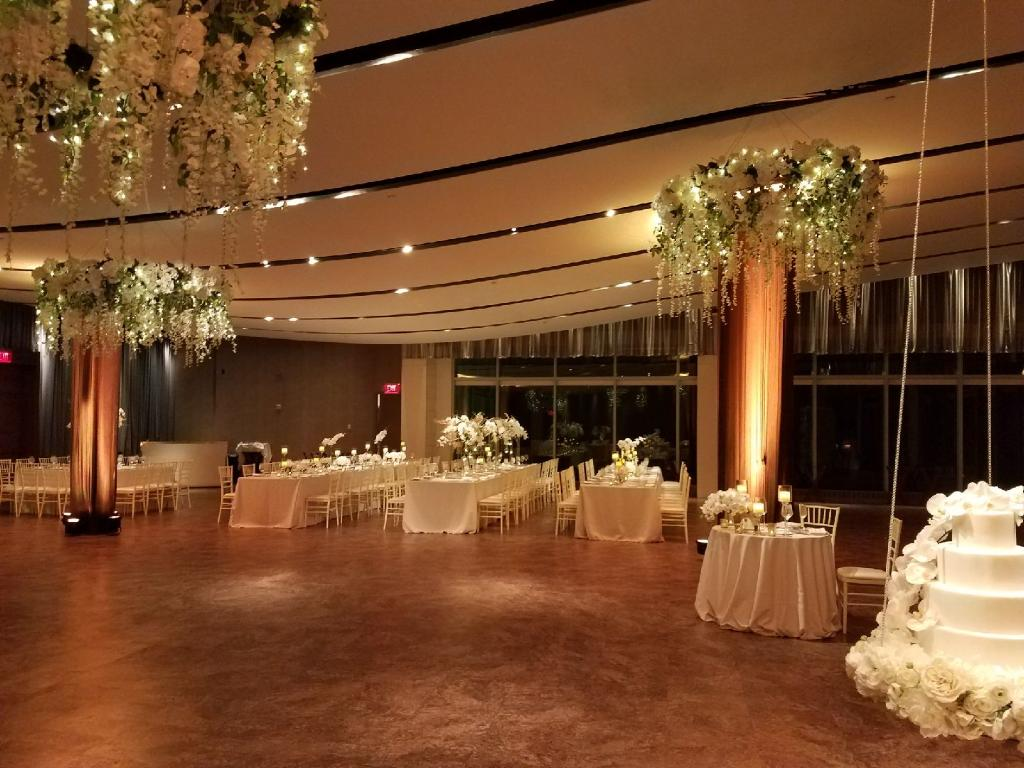Hanging Floral Chandaliers 2 - Atlantic Room