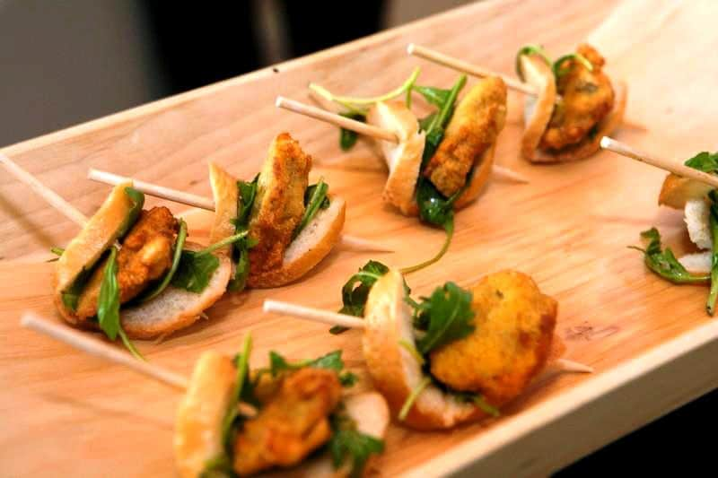 Oyster Poboys - Butlered Hors d'oeuvres