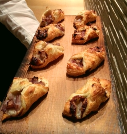 Roasted Pears and Gorgonzola Cheese in Puff Pastry - Butlered Hors d'oeuvres